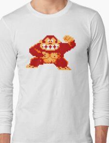 8-Bit Nintendo Donkey Kong Gorilla Long Sleeve T-Shirt