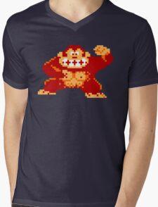 8-Bit Nintendo Donkey Kong Gorilla Mens V-Neck T-Shirt