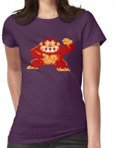 8-Bit Nintendo Donkey Kong Gorilla Womens Fitted T-Shirt
