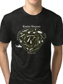 Zombie weapons Tri-blend T-Shirt