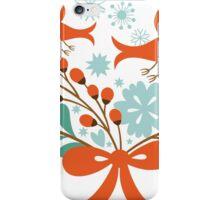 Cute Christmas Birds And Christmas Wreath iPhone Case/Skin