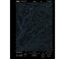 USGS Topo Map Oregon Hobson Horn 20110713 TM Inverted Photographic Print