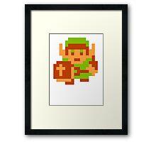 8-Bit Legend Of Zelda Link Nintendo Framed Print