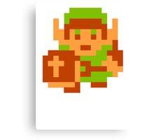 8-Bit Legend Of Zelda Link Nintendo Canvas Print