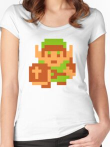 8-Bit Legend Of Zelda Link Nintendo Women's Fitted Scoop T-Shirt