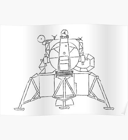 Lunar module sketch Poster