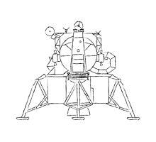 Lunar module sketch Photographic Print