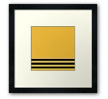 Hufflepuff Pride Colours Simplistic Framed Print