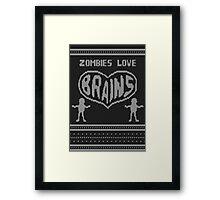 Zombie knitwear Framed Print