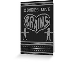 Zombie knitwear Greeting Card