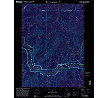 USGS Topo Map Oregon Bunker Creek 279203 1998 24000 Inverted Photographic Print