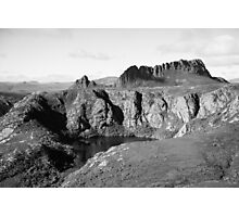 Crater lake, and Cradle Mountain Photographic Print