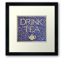 Drink Tea (Vintage version) Framed Print