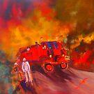 Vintage Fire Truck - Take 2 by Margaret Morgan (Watkins)