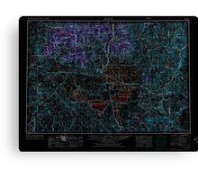 USGS Topo Map Oregon Burns 283306 1955 250000 Inverted Canvas Print