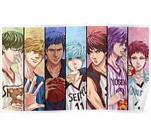 kuroko no basket anime manga shirt Poster