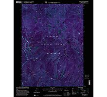 USGS Topo Map Oregon Chetco Peak 279327 1998 24000 Inverted Photographic Print