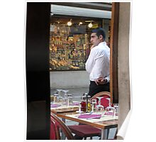 Waiter in Venice Poster