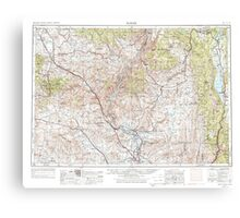 USGS Topo Map Oregon Baker 283298 1955 250000 Canvas Print