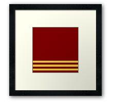 Gryffindor Pride Colours Simplisic Framed Print
