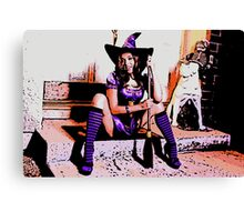 Non nude Halloween Witch sexy socks colour poster Canvas Print