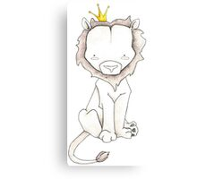 Grey Lion and Yellow Crown Canvas Print