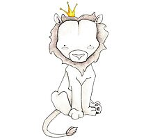 Grey Lion and Yellow Crown Photographic Print