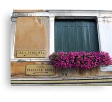 window in Venice Canvas Print