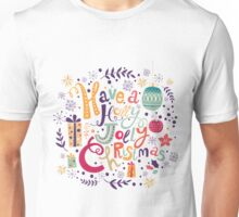 Have A Holy Jolly Christmas Text Design Unisex T-Shirt