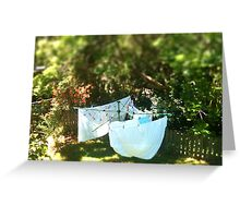 Washing Day - TiltShift Greeting Card