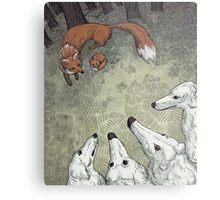 Fox Hunt Metal Print