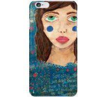 She let herself feel sad iPhone Case/Skin
