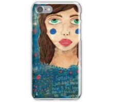 She let herself feel sad iPhone Case/Skin