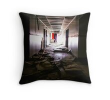 brightness & darkness looking down the hall Throw Pillow