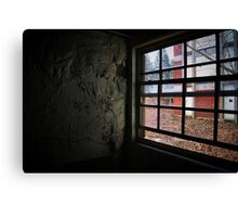 peeling paint and a window Canvas Print