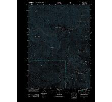 USGS Topo Map Oregon Father Mountain 20110809 TM Inverted Photographic Print