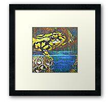 Australian Corroboree Frog in Pastel  Framed Print