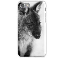 Bennett's Wallaby Joey B/W iPhone Case/Skin