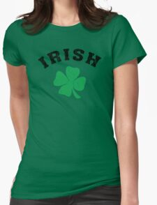 Irish Shamrock Womens Fitted T-Shirt