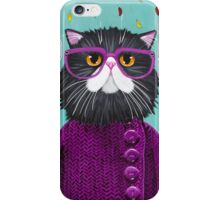 Cat's New Autumn Coat iPhone Case/Skin
