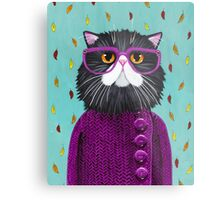 Cat's New Autumn Coat Metal Print