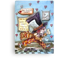 The Mad Hatter - running fom court Canvas Print