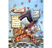 The Mad Hatter - running fom court Photographic Print