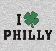 I Love (Shamrock) Philly One Piece - Long Sleeve