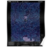 USGS Topo Map Oregon Chrome Ridge 279354 1996 24000 Inverted Poster