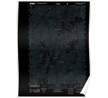USGS Topo Map Oregon Puderbaugh Ridge 20110809 TM Inverted Poster