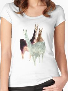 The Llama Posse Women's Fitted Scoop T-Shirt