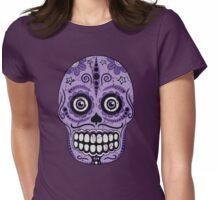 Grape Sugar Skull Womens Fitted T-Shirt