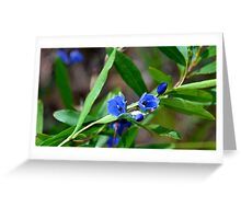 Blue thunder Greeting Card