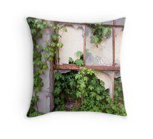 Ivy From a Broken Window Throw Pillow